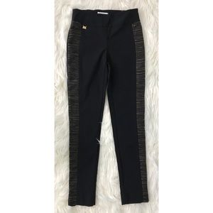 JOSEPH RIBKOFF pants black w/ gold metallic 8 NEW